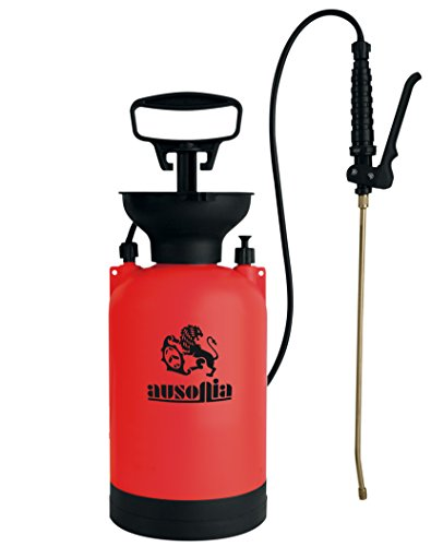 AUSONIA - 38014 Bomba DE PRESIÓN DE 5 litros con Lanza DE LATÓN