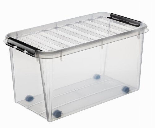 Orthex Clipbox Smart Store Classic 70, transparent mit Rollen 3530170