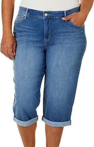 Gloria Vanderbilt - Riel Recto para Mujer, Pico - Batidor de Varillas, Color Azul, 22