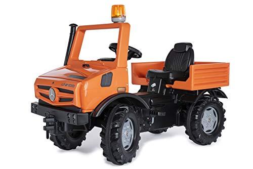 Rolly Toys 038237 rollyUnimog Service Edition 2020 (Kinderunimog, Tretfahrzeug) - inkl. RollyFlashlight, Sitz verstellbar, Flüsterlaufreifen