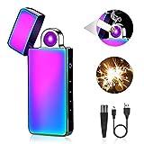ASANMU Elektro Feuerzeug, USB Feuerzeug Touchscreen Lichtbogen-Feuerzeug USB Aufladbar mit...