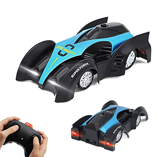 Eirix Remote Control Car Wall Climbing Toys for Boys Girls Dual Mode 360°Rotating Stunt Rechargeable High Speed Vehicle with Led Light Gifts Aged of 6-18