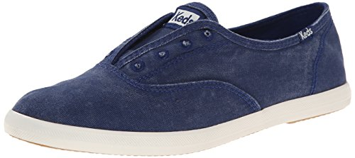 Keds Women's Chillax Washed Laceless Slip-On Sneaker, Navy, 8.5 M US