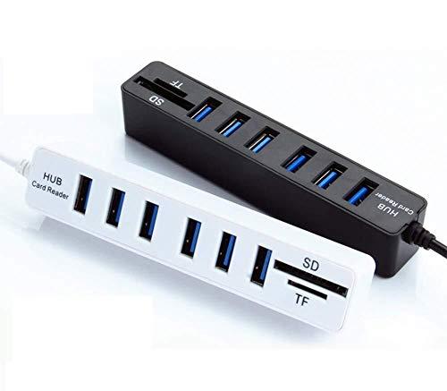 USB-hub kortsluitbeveiliging USB-uitbreidingscentrum Usb2.0Combo Tf/Sd-kaartlezer Usb-uitbreiding, de hub ondersteunt een maximale uitgangsstroom van maximaal 480mA.