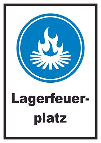 HB-Druck Lagerfeuerplatz Schild A6 (105x148mm)