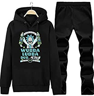 Art T-shirt-Rick Wubba Lubba Unisex Eşofman Takımı-Siyah-S