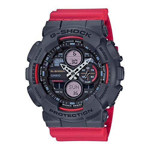 CASIO Herren Analog – Digital Quarz Uhr mit Resin Armband GA-140-4AER