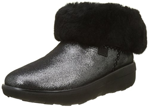 Fitflop Mädchen Mukluk Shorty 2 Shimmer Boots Stiefeletten, Schwarz, 36 EU