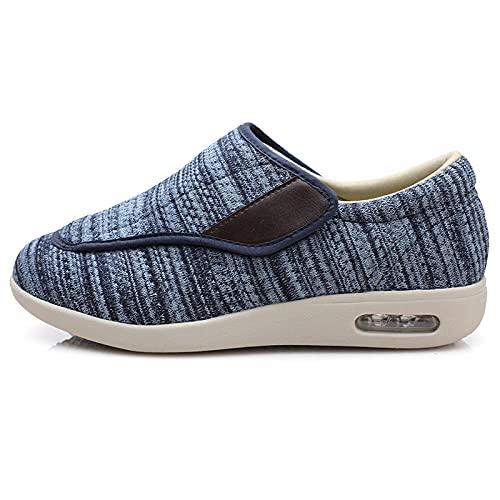 CCSSWW Pies Planos Hinchados Zapatos,Zapatos DiabéTicos Respirable Zapatillas-Azul Claro_48,Zapatillas De RecuperacióN para DiabéTicos