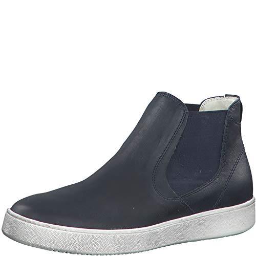 Tamaris Damen Stiefeletten 25401-34, Frauen Chelsea Boots, lose Einlage, leger Stiefel halbstiefel Bootie Schlupfstiefel flach,Navy,39 EU / 5.5 UK