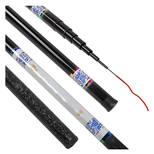 ZXQ Telescopic Fishing Rod, Spinning Fishing Rod Light and Resilient, Fishing Lover Best Gifts, for Saltwater or Freshwater, 6.3M