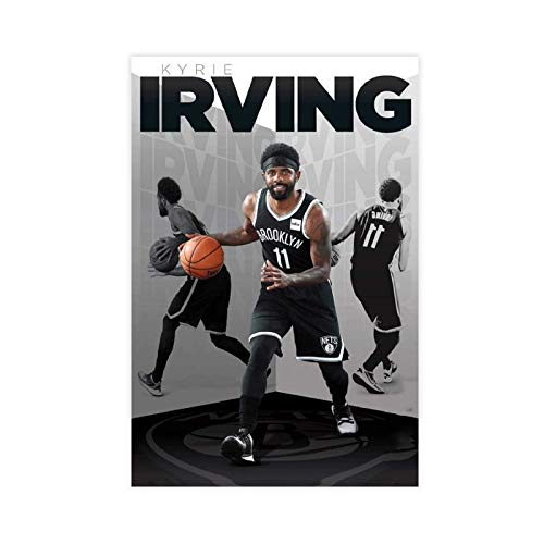 Kyrie Irving Poster Pop Art Basketball Star Canvas Poster Bedroom Decor Sports Landscape Office Room Decor Gift Unframe-style108×12inch(20×30cm)