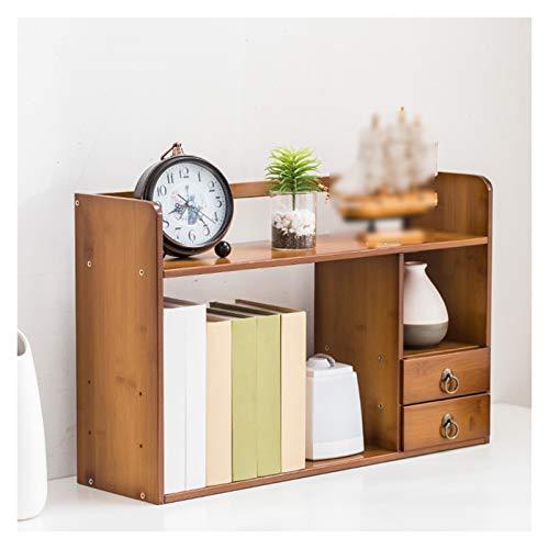Independiente decorativo Estantería, pequeña estantería con escritorio de cajones, escritorio de oficina para almacenamiento, madera maciza para el dormitorio de escritorio Organizador de almacenamien