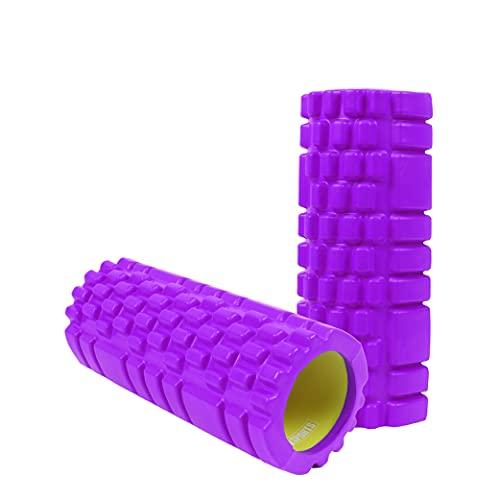 Calma Dragon Foam Roller, Rodillo de Espuma, Masaje Muscular, Rulo para Pilates, Yoga, Masajes de Espalda, Masajeador Miofascial, Mejora la Circulación sanguínea (34cm x 14cm diámetro) (Púrpura)