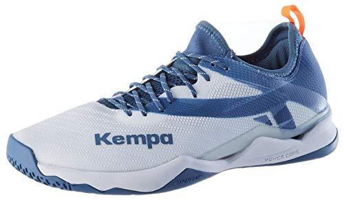 Kempa WING LITE 2.0, Herren Handballschuhe, Mehrfarbig (Weiß/Steel Blau 03), 39 EU (6 UK)