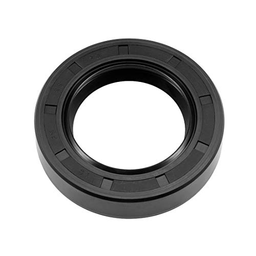 uxcell Oil Seal, TC 35mm x 55mm x 12mm Nitrile Rubber Cover Double Lip with Spring for Automotive Axle Shaft, Black Pack of 1