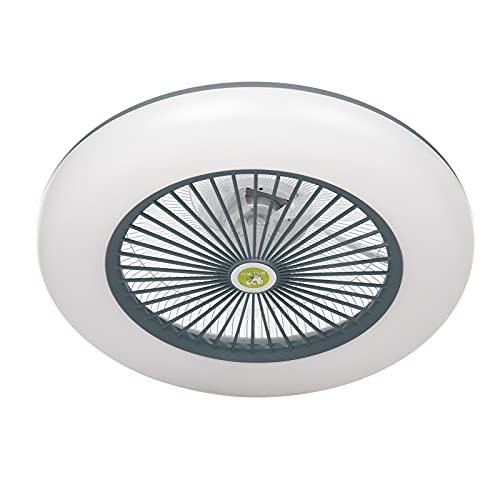 Lixada Ventilador Techo LED Lampara 110V-120V Regulables APLICACIÓN Control de teléfono móvil Conexión BT con Control Remoto para Dormitorio Sala de Estar Comedor