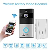 Wireless Video Doorbell, Accfly 720P HD WiFi Smart Doorbell Camera with Chime 16G