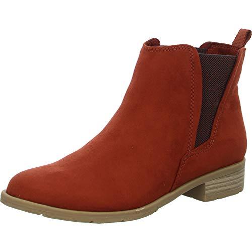 MARCO TOZZI Damen Stiefeletten Chelsea Boots 2-25321-35, Größe:36 EU, Farbe:Orange