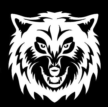 LLI Angry Wolf | calcomanía Vinilo | Coches Camiones