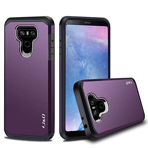 J&D Case Compatible for LG G6 / LG G6 Plus Case, Heavy Duty Dual Layer Hybrid Shock Proof Protective Rugged Bumper Case for LG G6 Plus, LG G6 Case, Purple
