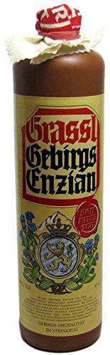 Grassl Gebirgs Enzian 0.7l im Steinkrug 40% vol.