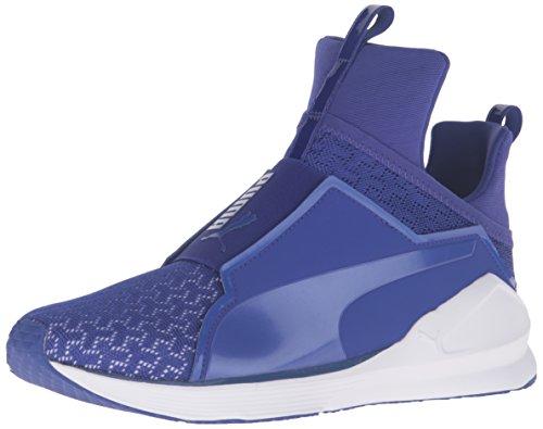 PUMA Women's Fierce eng mesh Cross-Trainer Shoe, Royal Blue White, 6 M US