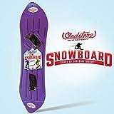 Sledsterz The Original Kids' Snowboard by Geospace (Purple)