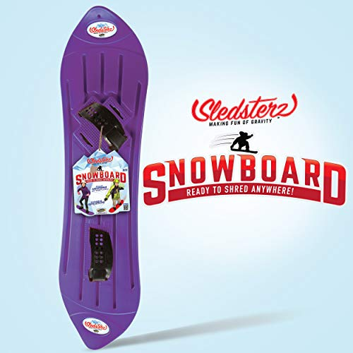 Sledsterz The Original Kids' Snowboard by Geospace (Purple)