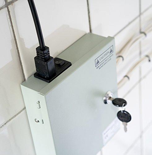 Nordstrand Fuente de Alimentación para CCTV Cámaras de Videovigilancia DC 12V 5A - 9 Canales