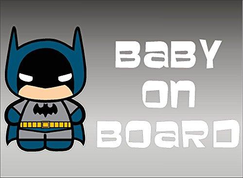 Batman Baby on Board/DC Comics Vinyl Vehicle Kids Window Graphic Decal Sticker