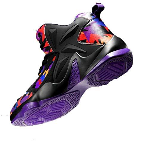 Zapatillas de Baloncesto para Hombre Zapatillas de Deporte con Plataforma de Colores Mixtos Tobillo Zapatos Deportivos Antideslizantes livianos al Aire Libre Ligeros Zapatillas de Deporte