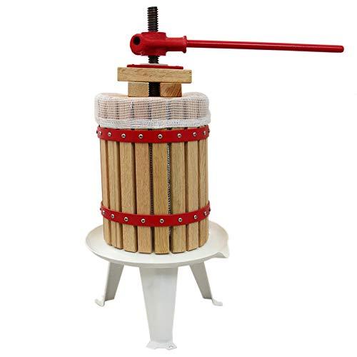 MonsterShop KuKoo Obstpresse Saftpresse Fruchtpresse Weinpresse Beerenpresse Beerenmühle Obstmühle Entsafter 18 Liter Inklusive Pressbeutel