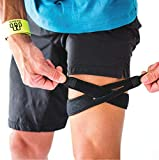 CROSSTRAP IT Band Strap   Illiotibial Band Support for Running, Cycling, Hiking and Sports (Black, 1...
