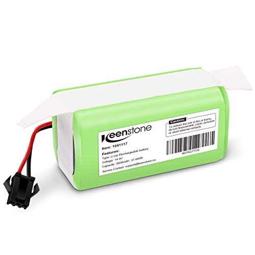 Keenstone 14.4v 2600mAh Li-ion Rechargeable Replacement Battery Compatible with Deebot N79S, Deebot DN622, RoboVac 11, RoboVac 11S, RoboVac 30, RoboVac 15C,RoboVac 12, RoboVac 35C