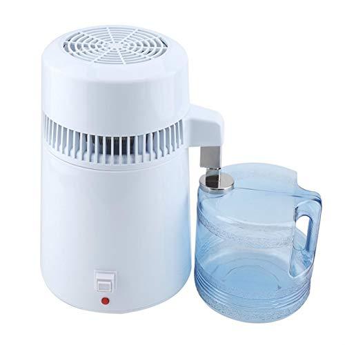 Klassisches Weiß Wasserbrenner, 4 L Maschine Zur Herstellung Von Destilliertem Wasser, Innere Wasserdestillation Aus Rostfreiem Stahl Wasseraufbereiter Für Sauberes Wasser Für Zu Hause,110v
