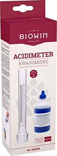 BIOWIN Acidometer komplett Set Blaulauge Wein selber Machen, Säurebestimmung