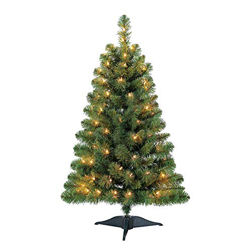 Pre-Lit 3' Winston Pine Artificial Christmas Tree, Clear Lights