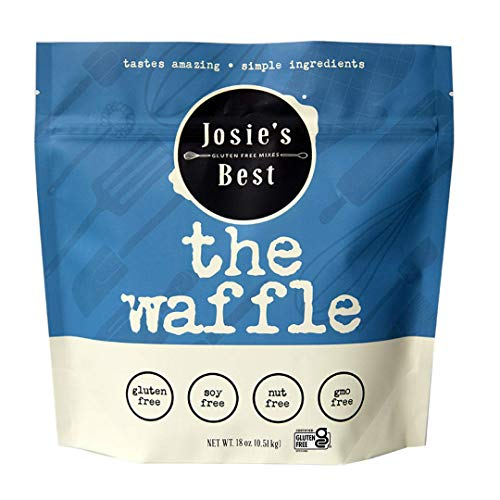 Josie's Best Waffle Mix (Gluten Free, Soy Free, Nut Free, GMO Free) tastes amazing   simple ingredients 18oz.
