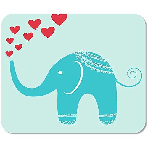 Mousepad Rosa Charakter Orientalischer Elefant Brunnen Der Herzen Rote Kindliche Rutschfeste Mauspad Mousepad Mausmatte Spielbüro Gedruckte Arbeit Bunte Sonderschule 25 X 30Cm