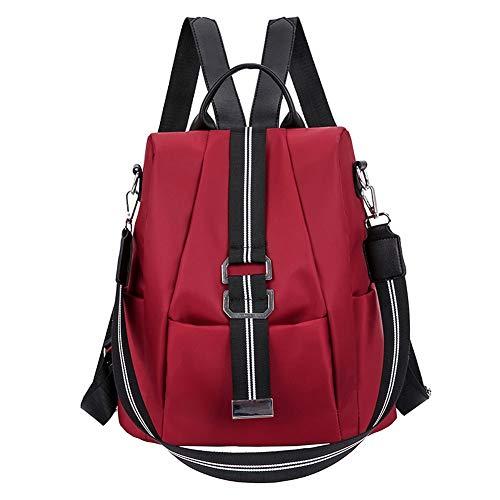 Baruyo rugzak voor school, diefstalbestendig, waterdicht, voor dames, schoudertas, licht, van Oxford-stof, modieuze rugzakken voor meisjes, 11,4 x 4,7 x 12,6 / rood