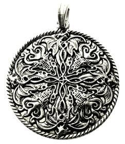 Nordischer Drache Amulett, Kettenanhänger 925 Sterling Silber, Anhänger, Drachen