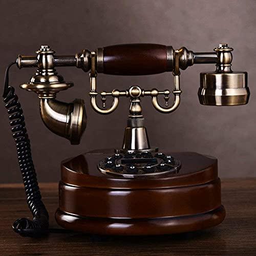KMILE Teléfono de teléfono Fijo Retro Europeo clásico Estilo Europeo, Antiguo, teléfono Antiguo, Metal, Cable a-Cable