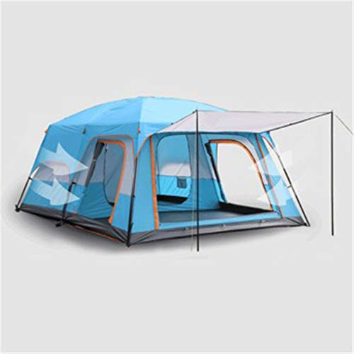 DerDer Two-bedroom and one-living room camping tent for 6-8 people and 8-12 people