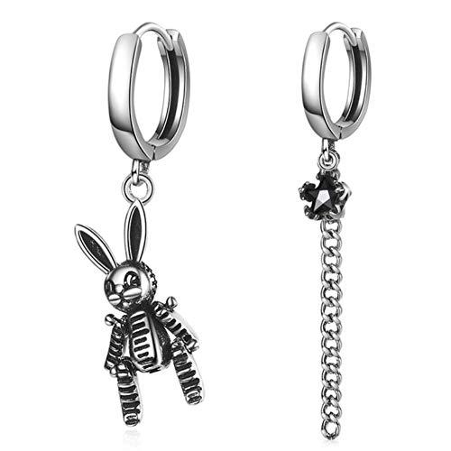 Vvff Pendientes De Gota Asimétricos Pendientes De Plata Para Mujer Joyería Pendiente De Cristal De Conejo Encantador