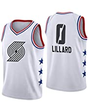 Portland Trail Blazers Jersey, 0 Damian Lillard Jersey para Hombre Camiseta de Baloncesto Malla Transpirable de Verano Camiseta de Secado rápido Ropa Deportiva Chaleco All-Star