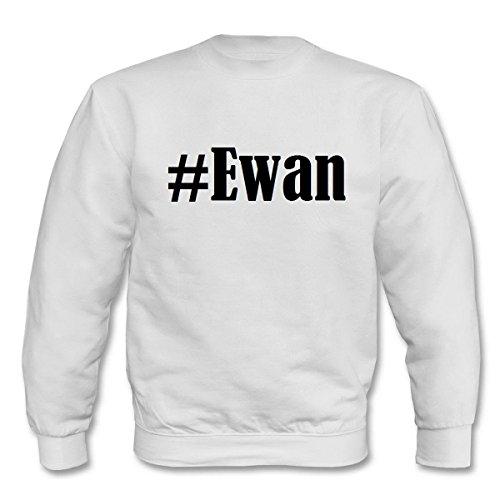 Reifen-Markt Sudadera Hashtag #Ewan para mujer, hombre y niños en los colores negro, blanco y azul con impresión Blanco Herren XX-Largearge
