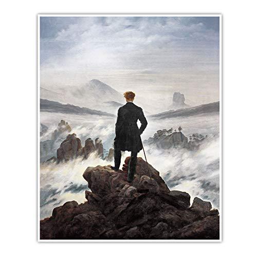 Wanderer über dem Nebelmeer - Caspar David Friedrich - Poster (60 x 50 cm, Poster)