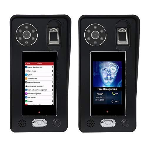 Timbre video de WiFi, videoportero electrónico de Digitaces de la seguridad en el hogar para el interior para al aire libre(Transl)