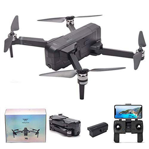 Kizove SJRC F11 5G WiFi FPV GPS Drone with 1080P Camera Live Video Foldable Brushless Motor RC Quadcopter Drone with iOS Android App Control Follow Me One-Key RTH Track Flight Headless Motor